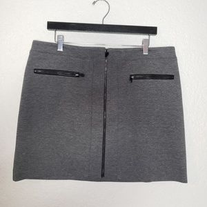 White House Black Market Mini Skirt w Front Zip